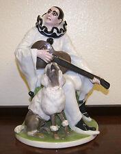 Rudolf Marcuse Duett Rosenthal Porcelain Figurine of Pierrot & Poodle 1913
