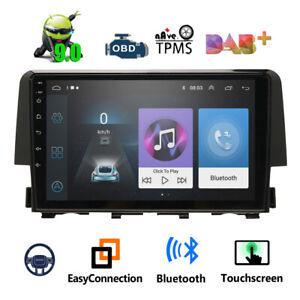 9''Android 9.1 WIFI For Honda Civic 2016-2018 Car Stereo Radio GPS Head Unit FM