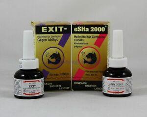 Esha 2000 20ml + Exit 20ml im Set gegen Fischkrankheiten  32,38€/100ml