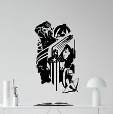 Avengers Wall Decal Captain America Hawkeye Superheroes Vinyl Sticker Art 235zzz