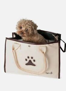 Pet Life Posh Paw Pet Carrier - One size white & brown One size