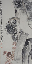 Excellent Chinese Scroll Painting By Wu Changshuo P652 吴昌硕