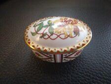Royal crown derby Bone China belle Chèvrefeuille Bijou Boîte datée 1988