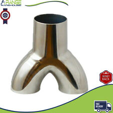 """UNIVERSAL T304 STAINLESS STEEL EXHAUST Y-PIPE PIECE ADAPTER 2"""" SINGLE 1.75""""DUAL"""