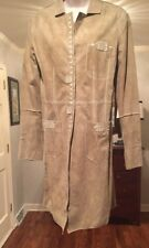 FINEST 100% SUEDE DUSTER COAT BY CARLISLE PER SE  Size 6