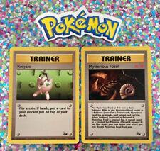 New Listing�� Mysterious Fossil Set Pokemon Cards Wizards WotC Game Freak Nintendo 1999 �