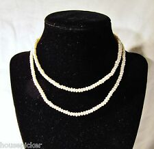 """Freshwater Natural Baroque Button Pearl Necklace 28"""" 14K Gold Clasp Great Luster"""
