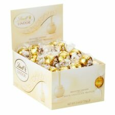 Lindt LINDOR White Chocolate Truffles, Kosher, 60 Count Box, 25.4 Ounce