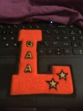"""1950s Varsity Letter L, GAA, 2 stars , 6"""""""