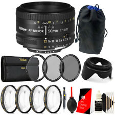 Nikon AF Nikkor 50mm f/1.8D Lens with  Accessory Kit