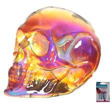 LED Totenkopf Skull Totenschädel inkl. 4 Batterien Coole Deko gothic schädel