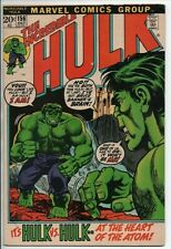 MARVEL COMICS The Incredible Hulk #156 Oct. 1972 Hulk vs. Hulk F-