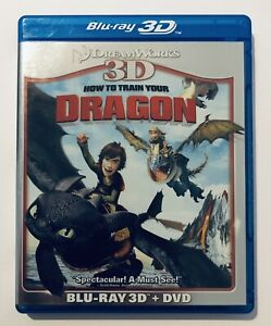 How to Train Your Dragon (3D Blu Ray) No DVD Disc VGC Movie 🍿 Kids Animation