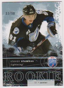 2007-08 BE A PLAYER HOCKEY STEVEN STAMKOS ROOKIE 33/99 UPPER DECK RR-301