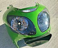 00 01 Kawasaki Ninja ZX12R ZX12 ZX 12 Front Upper Headlight Plastic Cowl CRACKED