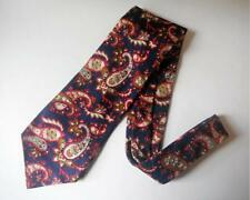 LIBERTY OF LONDON NECK TIE Navy Red White Floral Paisley Vintage SILK MEN'S TIE