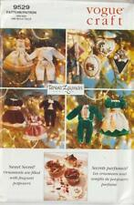 """OOP Vogue Sewing Pattern 9529 Victorian Christmas Ornaments 5"""",  3 1/4"""" , 4 1/2"""""""