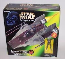 Star Wars POTF A-Wing Fighter & Pilot NIB Rare 1997 Kenner