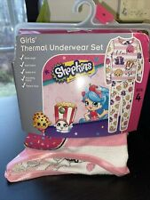 Nwt Shopkins Girls Thermal 2pc Underwear Sz 4