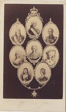 Famille royale par Neurdein Paris France Cdv Vintage albumine ca 1870