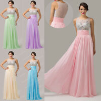 Grace Karin Beads Formal Party Evening Gown Bridesmaid Prom Cocktail Dress PINK