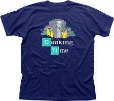 ADVENTURE COTTURA tempo Finn Jake Breaking Bad Walter Navy T-Shirt Stampata 09847
