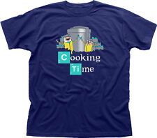 Adventure Cooking Time Finn Jake Breaking Bad Walter navy printed t-shirt 09847