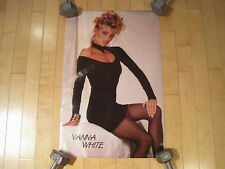 NOS! 1986 vtg VANNA WHITE pin up SEXY POSTER wheel of fortune HOT GIRL 80s