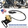Motorcycle Hydraulic Rear Disc Brake Caliper w/Master Cylinder Brake Pads Brake