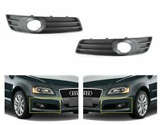 FOR AUDI A3 2008-2012 NEW LOWER BUMPER GRILL FOG LIGHT TRIM SET PAIR LEFT+RIGHT