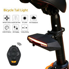 Bicycle Bike Tail Light Remote Control Turn Signal Indication Waterproof Safety