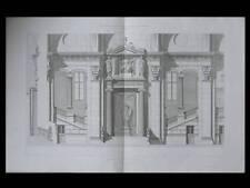 PARIS PALAIS DE JUSTICE - 1867 - GRAVURE ARCHITECTURE - JOSEPH-LOUIS DUC DOMMEY