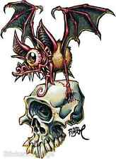 Skull Bat Sticker Decal Artist Big Toe BT58