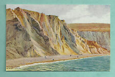 C1950'S A. R. QUINTON POSTCARD - CLIFFS ALUM BAY ISLE OF WIGHT SALMON 2569