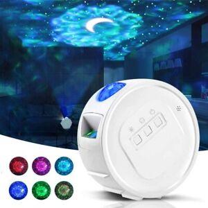 LED Projektor Sternenhimmel Lampe Bluetooth mit Fernbedienung Starry Mond Stern