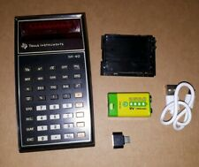 SR40 Texas Instruments Vintage Taschenrechner 9V Li-Ion Akku 1200mAh USB laden