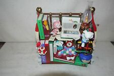 Enesco BOOKED FOR THE HOLIDAYS Animated Music Box 1995