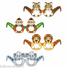 12 Wild Fun Animals Jungle Children's Party Favours Gifts Loot Card Glasses