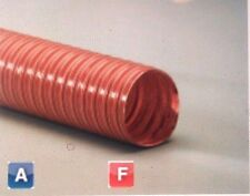 5 inch I.D. Heat Flex GS Red 2 Ply Silicone Coated Fiberglass Ducting Hose 12ft
