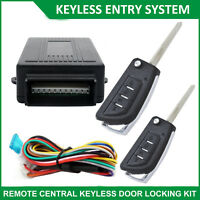 Universal Car Auto Keyless Entry System Upgrade Door Remote Central Locking Kit