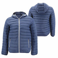 Men's Hooded Lightweight Packable Zip Insulated Quilted  Puffer Jacket