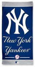 New York Yankees Fiber Beach Towel [NEW] NY MLB Blanket Vacation Summer Pool CDG