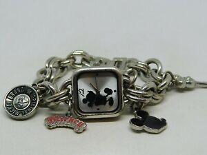 Disney MK2057 Mickey Mouse Charm Bracelet Quartz Analog Ladies Watch Sz. 5 1/4''