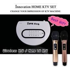 EVASing Wireless WiFi KTV Karaoke Microphone Airplay Miracast gift (White+2mic)