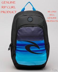 RIP CURL OZONE ECO BLACK & BLUE BACKPACK SCHOOL TRAVEL SPORTS GYM BAG NEW 30L