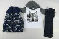 Calvin Klein Baby boys set, 3-Piece Vest, Hoodie & Pants Set size 12 months