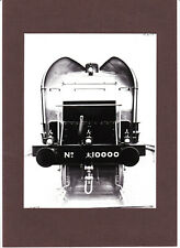 More details for lner class w1 no. 10000 hush-hush steam locomotive photograph on card