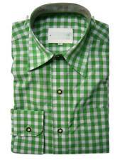 Original Trachtenhemd Fb. grün - kariert nEU Gr. XS - XXL