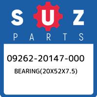 09262-20147-000 Suzuki Bearing(20x52x7.5) 0926220147000, New Genuine OEM Part