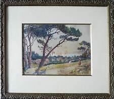 Tableau Ernest Designolle (1850-1941) Aquarelle sur les hauteurs de Marseille